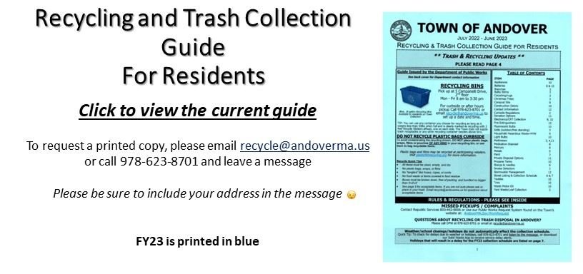 Recycle and Trash Collection Guide - FY17